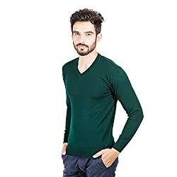 Numero Uno Green Solid Sweater (XX-Large)