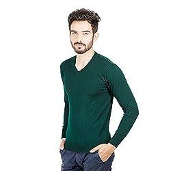 Numero Uno Green Solid Sweater (Medium)