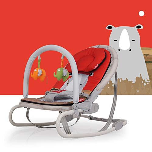 Schaukelstuhl Baby, Faltbare Kissen Für Winter Und Sommer Können Die Multifunktionale Wiege Reinigen (Farbe : Rhino) - Eisen-baby-wiege