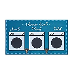 Elements Wood 'Chore List' Wall Mounted 2-Hook Wall Plaque, 18-Inch