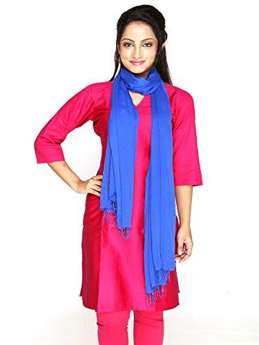 Dupatta Bazaar Women's Dupatta (DB0372_Blue_Free Size)