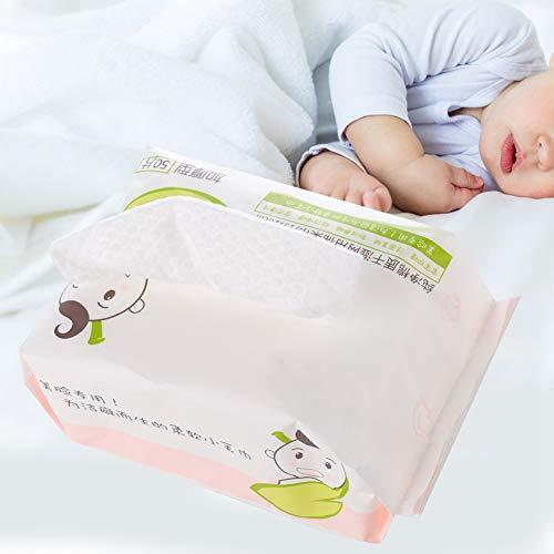 Ultra weiche und schonende trockene Tücher - 50pcs Einweg-Perfect Face-Handtuch-Tücher Baumwolle zur Reinigung von Gesicht und Hand, Haushaltsreinigung, Make-up-Entferner Reinigungspads (Gewinner Nur Möbel)