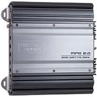 MAC Audio MPExclusive 2.0 - Amplificador de potencia estéreo (conmutador mono / estéreo, 500 W, rango de frecuencia de 5 Hz - 300 Hz) negro y plata