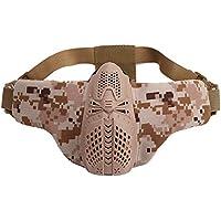 JUSTDOLIFE Máscara de Airsoft Máscara Protectora de Paintball Máscara de Media Cara Máscara de Juego para Exteriores
