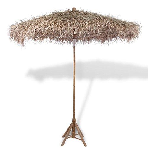 Parasol en bambou avec toit en feuilles de bananier 270 cm