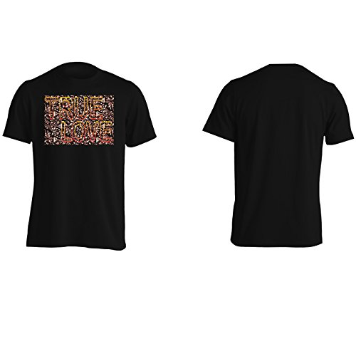 Ti Amo Vera Paio Arte Divertente Della Novità Epoca Uomo T-shirt a164m Black