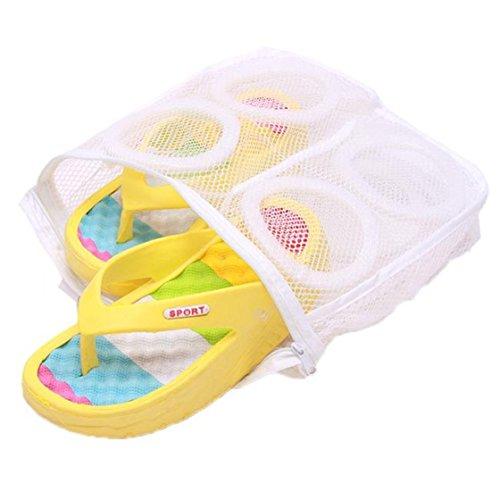 LnLyin 1pcs Sneaker-Reiniger-Fall-Tennis-Wäscherei-Netz-hängende waschende Beutel-Schuh-Aufladung - Mesh-tennis-schuhe