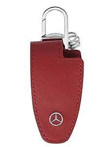 Mercedes-Benz Etui porte-clés Cuir vachette / Acier inoxydable, rouge