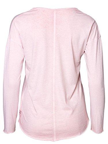 DAILY'S KAREN cold pigment dyed mit Print Damen oversize Langarmshirt aus Bio-Baumwolle - soziale fair trade Kleidung, Mode vegan und nachhaltig Color frosted-rose, Size S - 2