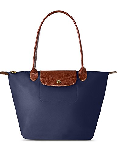 Longchamp , Damen Tote-Tasche Blau marineblau (Handtasche Longchamp Le Pliage)