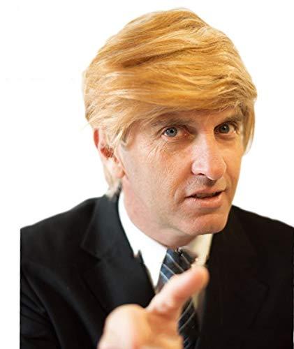 Jouer COS COS cheveux courts raides perruque Prince Golden Trump présidentielle faux cheveux, couleur de l'image + perruque doit avoir 4 pièces