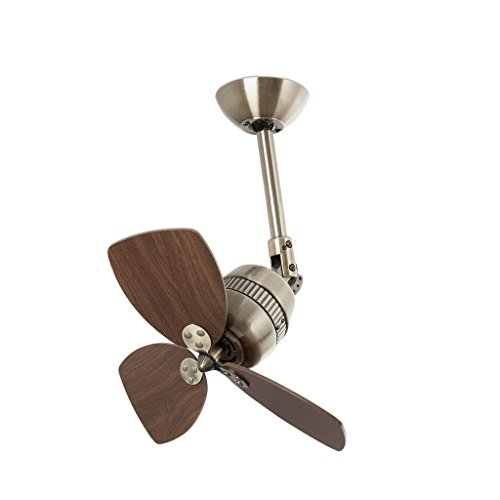Faro Barcelona Vedra 33450–Fan Without Light, Aluminium and Blades Wood MDF
