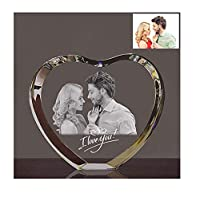 Zhaolian888 Personalised Engrave Photo Inside Crystal Glass 3D Laser Holographic Photo Etched Engraving Gift