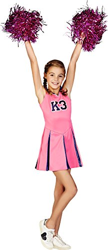 Kostüm Cheerleader Kind - Studio100 0806038 K3 Umkleide Kleid Cheerleader 6-8