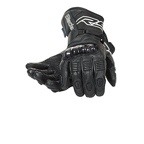 RST KLINGE 1664 WP Wasserdichte Handschuhe - Schwarz - Schwarz, L (10cm) (Doppel-manschette Leder Handschuhe)