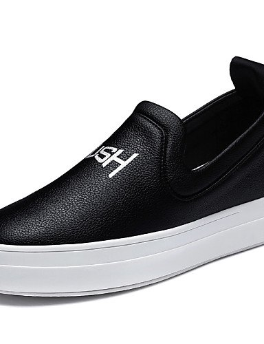ZQ gyht Scarpe Donna - Mocassini - Ufficio e lavoro / Formale / Casual / Sportivo / Serata e festa - Creepers - Plateau - Sintetico -Nero / , white-us8 / eu39 / uk6 / cn39 , white-us8 / eu39 / uk6 / c black-us5 / eu35 / uk3 / cn34