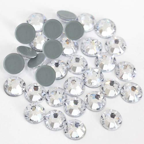 Astonish 2028 SS4 für SS40 von Bester Qualität Crystal AB Glas Rhinestones Caldi Schwierigkeitsgrad Flatback Chiaro Hotfix für Brautkleid B0230: Kristall, SS12-1440pcs -