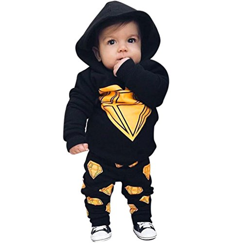Barbarer Newborn Baby Boys Toddler Hooded Tops and Long Pants Outfits Set Clothes (Renaissance Outfit)