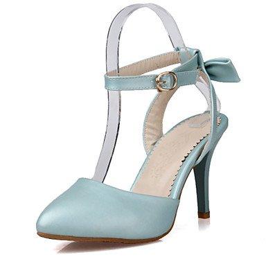 LvYuan Damen-Sandalen-Hochzeit Kleid Party & Festivität-Kunstleder-Stöckelabsatz-D'Orsay und Zweiteiler Club-Schuhe-Blau Rosa Weiß White