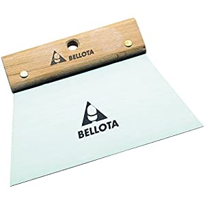 Bellota 5876 Llana espátula hoja lisa, 200×131 mm, Acero, 0