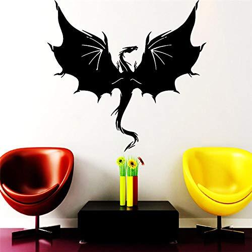 Art deco_flying dragon wall sticker sala da gioco camera dei bambini colla vinilica di alta qualità protezione ambientale non tossica
