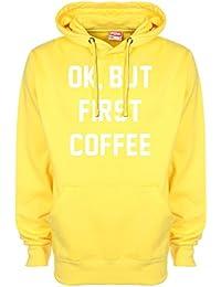 No pasa nada, pero First sudadera con capucha de café