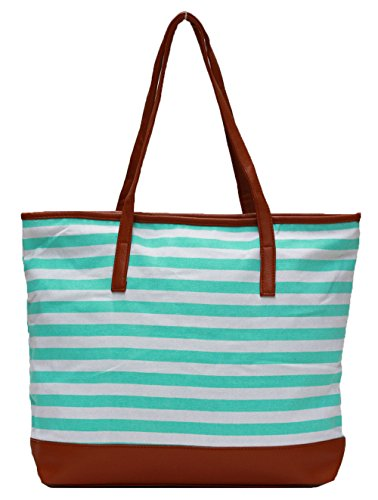 Other, Borsa a spalla donna large Stripe Mint