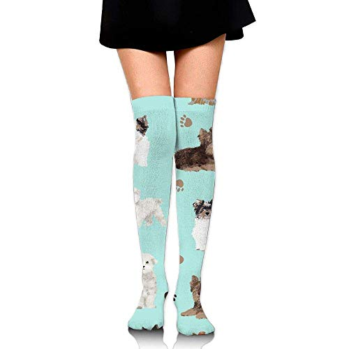 quanzhouxuhuixiefu Yorkie Maltese Biewer Terriers Dogs Upgraded Knee High Graduated Compression Socks for Women and Men Medical,Nursing,Travel & Flight Socks - Running & Fitness