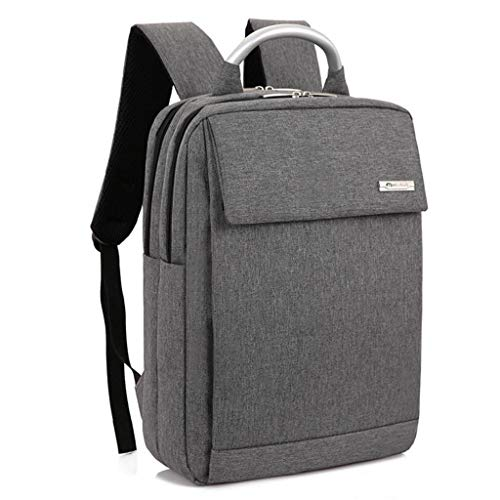 Große Business-Taschen 17-Zoll-Laptop-Rucksack Outdoor-Reiserucksack Große College School Bookbag für Reisen/Business/College/Frauen/Männer (Color : Gray)