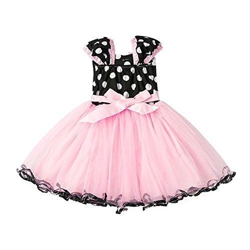 (Amphia - Karnevals-Tutu-Kleid für Kinder - Netzrock - Kinder Kid Girls Dot Print Bowknot-Formale Prinzessin Net Yarn Dress Clothes)