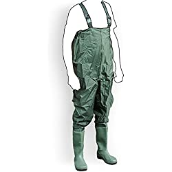 Wathose Anglerhose Watstiefel Watt Fisch Teich Gummi PVC Nylon Gr. 45