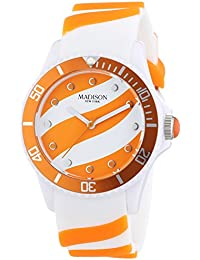 Madison New York analog Lollipop multi-color dial Unisex watch - U4620-04