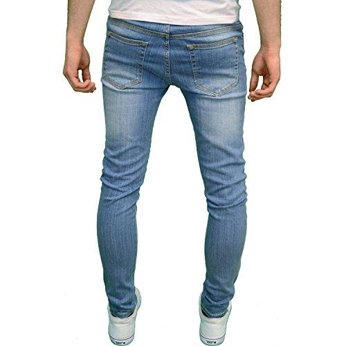 526Jeanswear Herren Jeanshose Schwarz schwarz 71 cm- 107 cm Light Stonewash