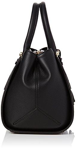 Guess Damen Sissi Box Satchel Handtaschen, Einheitsgröße Schwarz (Nero)