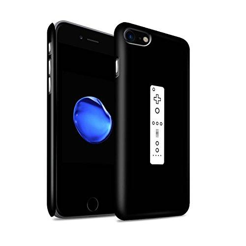 STUFF4 Matte Snap-On Hülle / Case für Apple iPhone 8 / Weiß PS4 Muster / Spielsteuerung Kollektion Weiß Wii