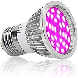 happy event E27 E14 GU10 6W 28-LED Pflanzenlampe Pflanzenlicht Led Grow Light Birne Hydroponische Veg Blume volles Spektrum | Plant Grow Light Bulb (E27)
