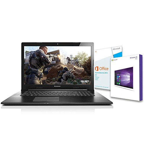Preisvergleich Produktbild Lenovo G70-35 Notebook (17 Zoll),  Quad Core 4x 1.50 GHz,  8GB RAM,  500GB,  HDMI,  Windows 10 Pro,  Office 2013 Home and Business,  AMD R2 Grafik. DVD Brenner,  Webcam