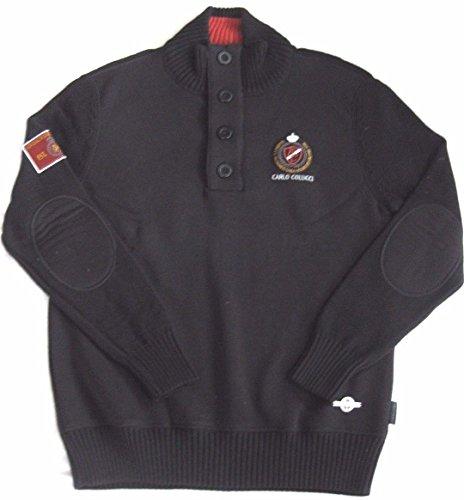 Preisvergleich Produktbild Carlo Colucci Designer Premium Sweatshirt mit Aplikationen black S 46
