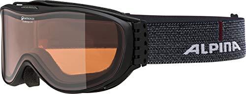 ALPINA Erwachsene Challenge 2.0 QH Skibrille, Black-matt, One Size