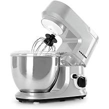 Klarstein Carina Argentea robot de cocina (recipiente de acero inoxidable de 4 litros, 3