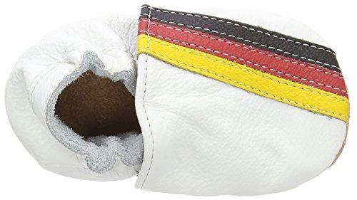 HOBEA-Germany - Lauflernschuhe Flagge, Scarpine e pantofole primi passi Unisex – Bimbi 0-24 Bianco (Weiß (German Flag))