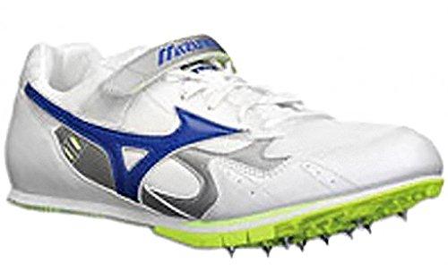 Mizuno , Chaussures avec crampons pour saut en longueur mixte adulte Multicolore - Bianco/Bluette Elettrico