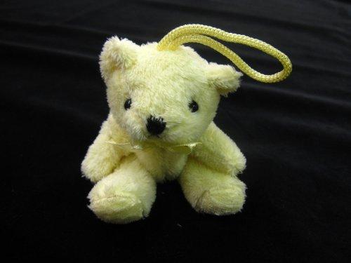 Porte-clés ourson jaune tassel-Ted sur une corde en peluche