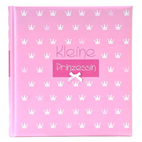 Goldbuch Babyalbum, Kleine Prinzessin, 30 x 31 cm, 60 weiße Blankoseiten mit 4 illustrierten Seiten und Pergamin-Trennblättern, Kunstdruck mit Relieflack, Mit Accessoires, Rosa, 15087