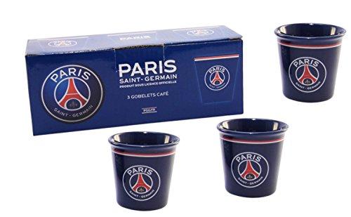 Coffret 3 x tasse expresso PSG - Collection officielle PARIS SAINT GERMAIN - Vaisselle Supporter - Football Ligue 1