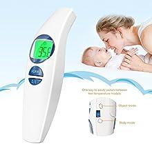 insma cuerpo termómetro sin contacto médica no oído y frente termómetro de infrarrojos de modo dual touch requieren medición instantánea con color coded fiebre detección ISO CFDA TUV certificación