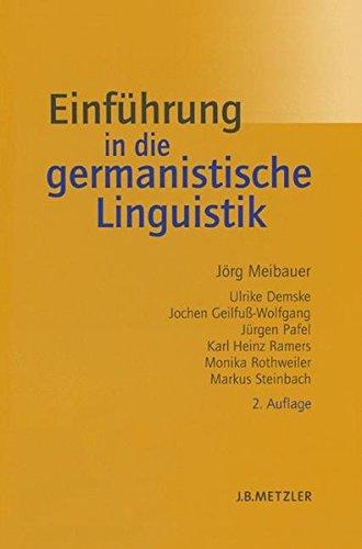 Einführung in die germanistische Linguistik (Lehrbuch)