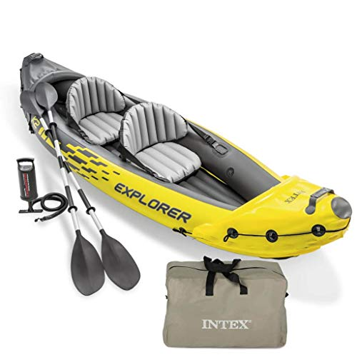 Festnight- Kayak Inflable de Mar Explorer K2 312x91x51 cm 68307NP