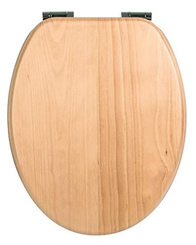 Calmwaters - Antimilos - WC-Sitz aus Holz mit Absenkautomatik, Fast-Fix und Metallscharnieren in Buche - 26LP2849