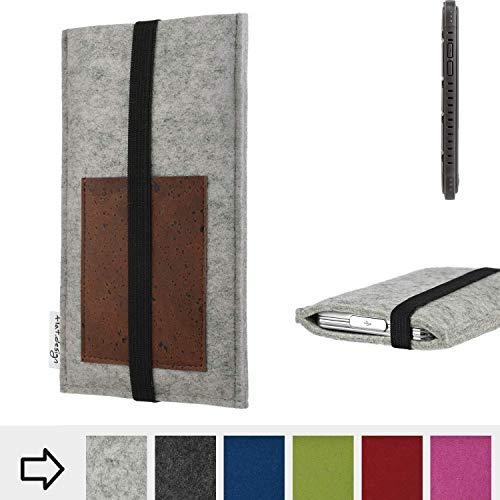 flat.design Handy Hülle Sintra für Cyrus CS 35 handgefertigte Handytasche Filz Tasche Schutz Case Kartenfach Kork